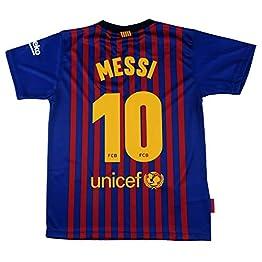 Maillot 1ère équipe FC.Barcelona 2018-2019 - Réplique Officielle Autorisé - Crête 10 MESSI - Adulte taille XXL - Mesure Poitrine 63 -Longueur Totale 77 -Manche L 23 cm.