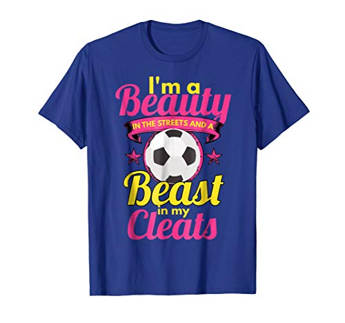 s Beast In My Cleats Girls Soccer Shirts ()