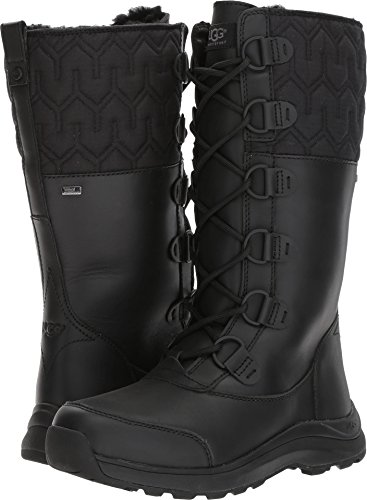 UGG Women's Atlason Snow Boot, Black, 8.5 M US