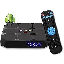 Android TV BOX, 2018 GooBang Doo ABOX MAX 7.1.2 TV BOX 2GB RAM 16GB ROM Amlogic Quad Core A53 processor 64 bits with Bluetooth 4.0