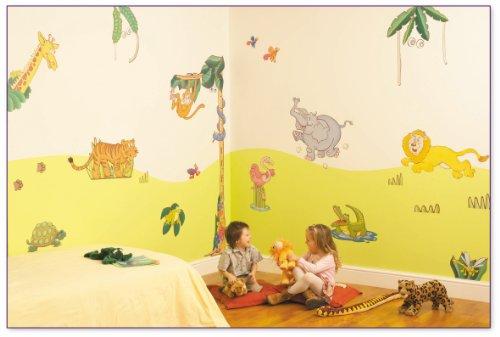 FunToSee Jungle Safari Nursery and Bedroom Make-Over Decal Kit, Jungle