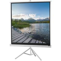 celexon 102 Tripod Projector Screen Tripod Economy, 72 x 72 inches viewing area, 1:1 format, White edition