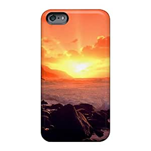 Apple Iphone 6 VMQ1914JxHJ Allow Personal Design Colorful Sunset Ocean Pictures Durable Hard Phone Covers -ElenaHarper