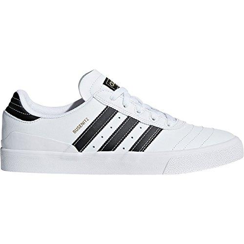 Adidas Originali Mens Busenitz Vulc Fashion Sneaker Calzature Bianco / Nero / Oro Metallizzato