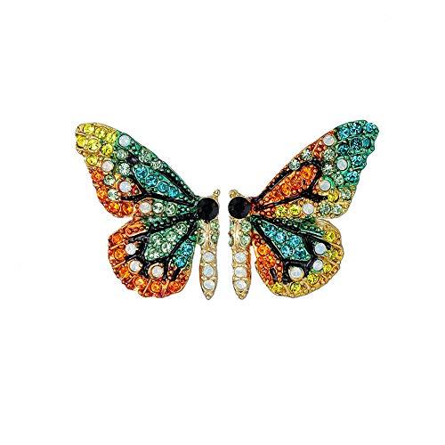 Color Butterfly Wing Earrings Fairy Tale Rhinestone Butterfly Stud Earrings for Women Girls