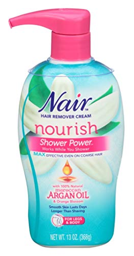 Nair Hair Remover Shower Power Max Argan Oil 13 Ounce Pump (384ml) (3 Pack)
