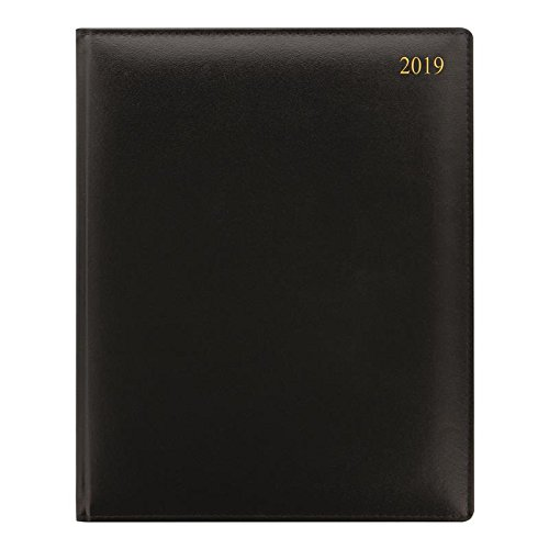 Letts of London 2019 38V Signature Compact Quarto - Week to View (V Size) Calendar - Week to View Horizontal Format (S Size) Calendar - Black by Letts of London
