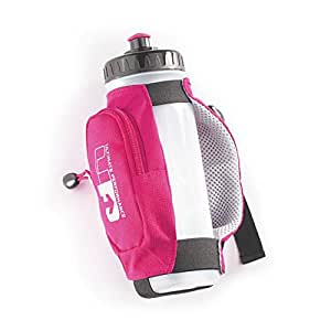 Ultimate Performance Kielder Handheld Bottle Holder For Running Black / Pink by Ultimate Performance