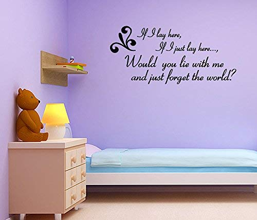 V-studios ~ Snow Patrol~ Wall Quote Wall Decal Vinyl Art Sticker Wall Quotes Lettering Art ()