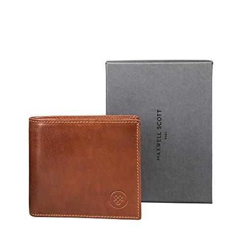 Personalized Full Wallet Handmade Leather Vittore Grain Maxwell The Scott Tan Luxury Classic Italian 5fxw5ORX