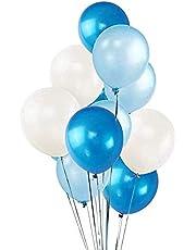 100 عبوة من البالونات البيضاء والزرقاء الداكنة 30.48 سم، ديكورات حفلات عيد الحب، بالونات هيليوم سميكة من اللاتكس لمهرجان الكرنفال وأعياد الميلاد وعيد الفصح وعيد الأم
