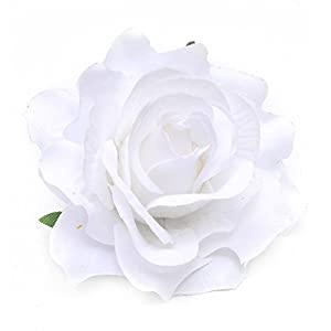 YHCWJZP 1Pc Women Rose Flower Hair Clip Hairpin Corsage Brooch Pin Wedding Party Decor - White 111