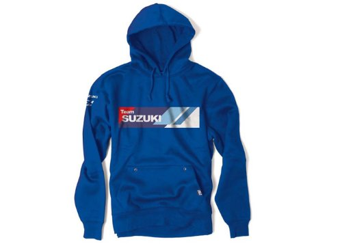 Factory Effex 'SUZUKI' Hooded Pullover Sweatshirt (Blue, XX-Large) (Suzuki Apparel)