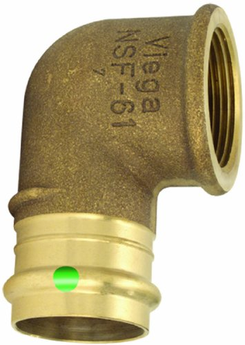 Viega 77532 ProPress Bronze 90-Degree Elbow with Female 1/2-Inch by 1/2-Inch P x Female NPT, 5-Pack Bronze 90 Degree Elbow