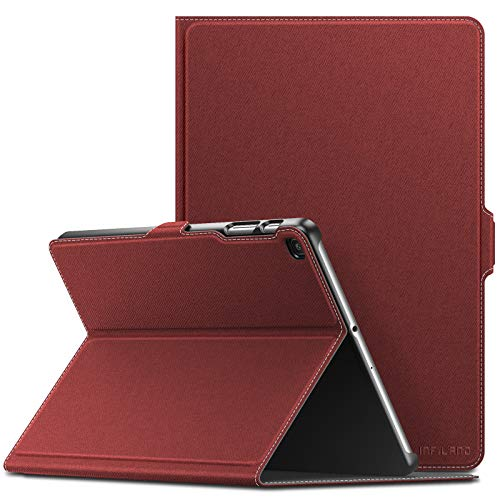 (Infiland Samsung Galaxy Tab A 10.1 2019 Case, Multiple Angle Stand Cover Compatible with Samsung Galaxy Tab A 10.1 Inch Model SM-T510/SM-T515 2019 Release Tablet, Dark)