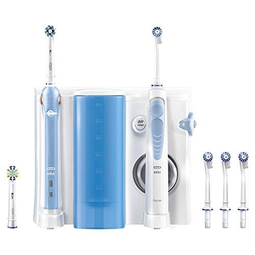 Oral-B OxyJet Reinigungssystem (Munddusche mit Oral-B Pro 1000 elektrische wiederaufladbare Zahnbürste)