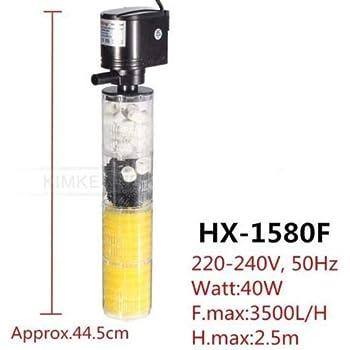 FidgetGear 1000-3500L/H Submersible Water Internal Filter Pump for Aquarium Fish Tank HX-1580F 3500L/H 40W