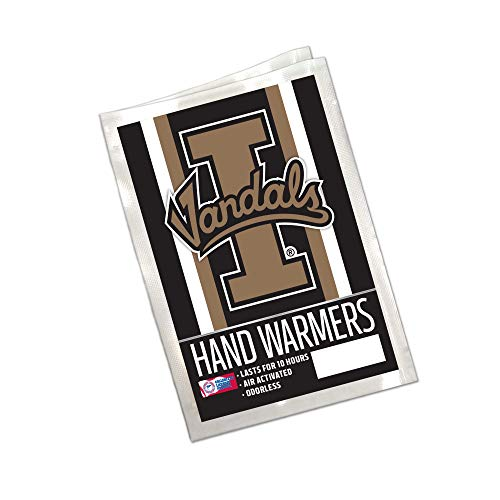 Worthy Promo NCAA Idaho Vandals Winter Hand Warmers 20-Pack (10 Pair). Long Lasting 10-Hour Warmth, Air Activated, Odorless. Gifts for Men, Women. Tailgating Accessories, Stocking Stuffers. ()