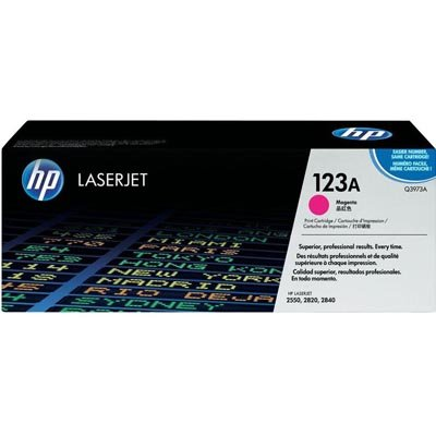 HP Toner, Q3973A, 123A, Magenta, 2,000 pg yield [Non - Retail Packaged]