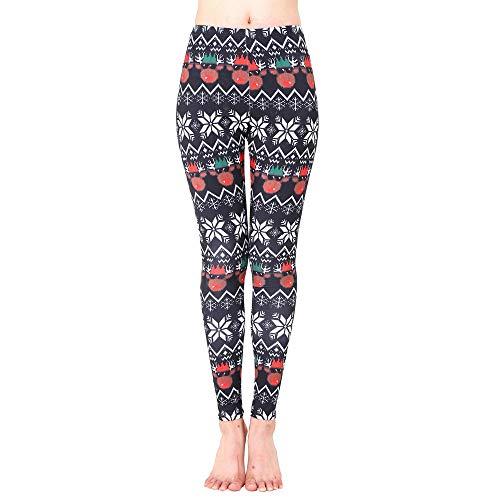 iLUGU Womens Xmas Sports Gym Yoga Pants Yoga Running Fitness Leggings Camouflage Athletic Trouse Work Out ()