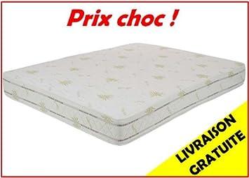 Matelas Latex Luxe 160 X 200 X 22 Cm Grand Confort Biolatex