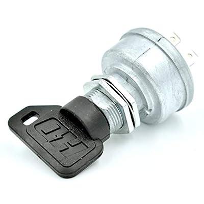 HD Switch John Deere Ignition Switch QuikTrak 636M 648M 648R 652B 652R 652M : 3 Keys & Free Carabiner Compatible with John Deere: Garden & Outdoor