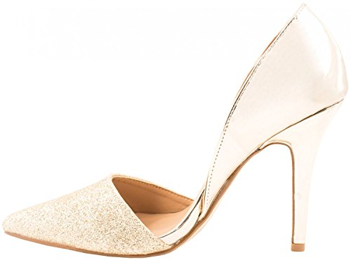Elara Damen Pumps | Spitze Stiletto High Heels | Moderne Pumps 6369-P-Gold-38:  Amazon.de: Schuhe & Handtaschen