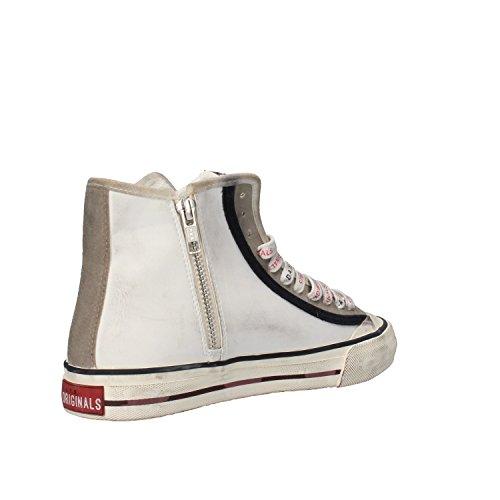 Eu 37 t Bianco D Sneakers Donna Camoscio e a Pelle xYCwf7qF