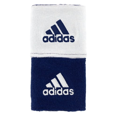 (adidas Interval Reversible Wristband, Collegiate Navy/White / White/Collegiate Navy, One Size Fits All)