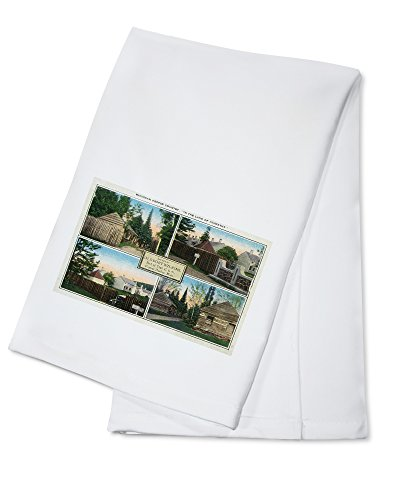 Copper Harbor, Michigan - Scenes from Old Fort Wilkins, Michigan Copper Country (100% Cotton Kitchen Towel)