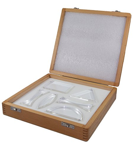 Acrylic Ray Optics Set Consisting of 6 15mm Thick Acrylic Lenses 15 Mm Clear Acrylic