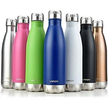 Amazon Com Vanpo Vacuum Insulated Water Bottle 17oz
