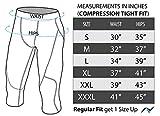 Nooz Men's Compression 3/4 Capri Pants Baselayer