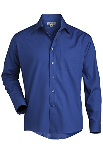 (Men's Long Sleeve Broadcloth Shirt 1363 6XLT Royal by Edwards for Compo Clothing)