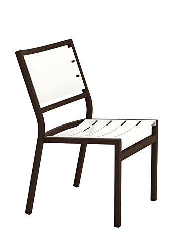 Tropitone by Casual Living Cabana Club Aluminum Slat Side Chair, Shell, Greco
