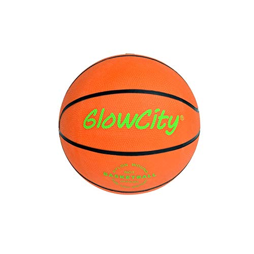 GlowCity Light Up Mini Basketball For Children's Mini Basketball Hoops AND Over The Door Hoops