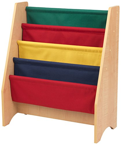 KidKraft Sling Bookshelf - Primary & Natural - Bookshelf Kidkraft Natural