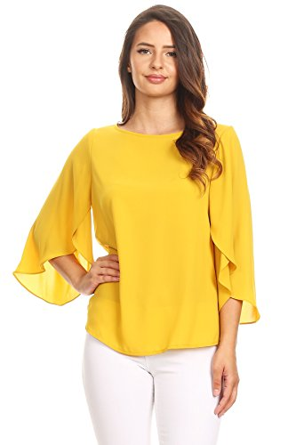 Top recommendation for mustard blouses with sleeves