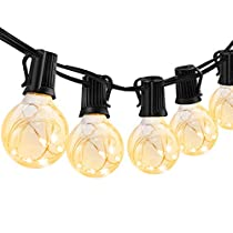 ECOWHO 32Ft G40 Globe String Lights, 30 LED Bulbs UL Listed Waterproof Outdoor String Lights for Bedroom, Backyard, Party, Wedding, Cafe