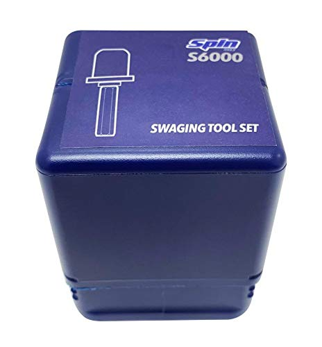 """SSPIN300 Swaging Tool Drill Bit Set with 1//4/"""" 3//8/"""" 1//2/"""" 5//8/"""" 3//4/"""" 7//8/"""" Bits"""