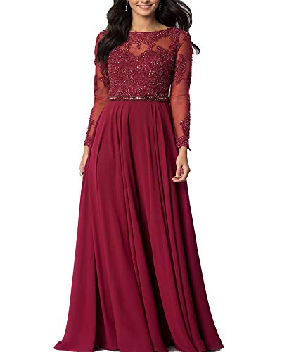 - Roiii Summer Boho Women Long Maxi Evening Party Skirt Beach Plus Size Dresses (XX-Large, Wine Red)