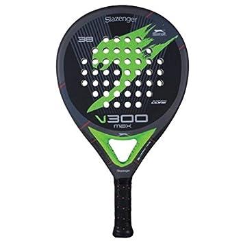 Slazenger V300 MAX - Pala de pádel, Color Negro/Gris/Verde, 38 mm ...