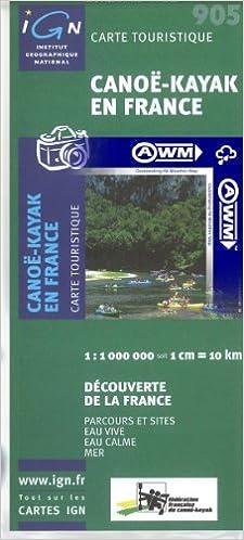 carte de france kayak