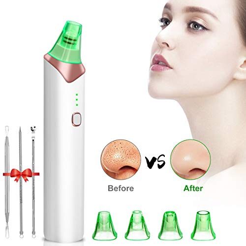 Blackhead Remover, Vacuum Blackhead Removal Peel Tool Extractor Electric Skin Pore Cleaner, Rechargeable Suction Comedone Acne Eliminator Device for Nose Face Men Women