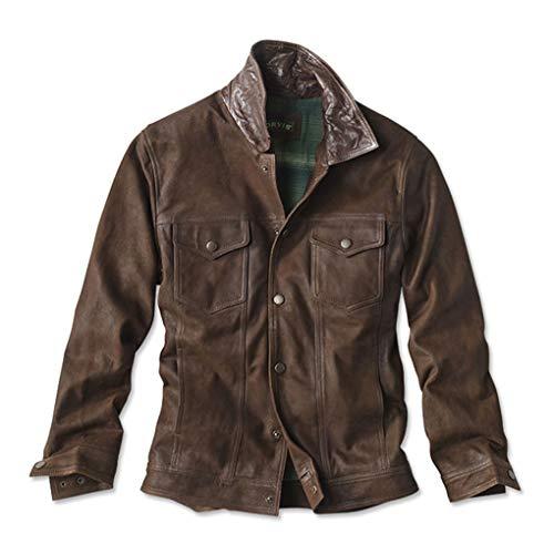 Orvis Men's Suede Trucker Jacket, Brown, X ()
