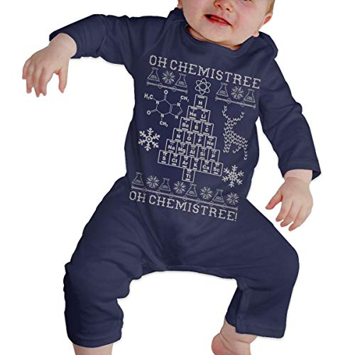 Price comparison product image Oh Chemistree,  Oh Chemistree! Ugly Christmas Chemistry Baby Boys&Girls Long Sleeve Cute Bodysuit Navy