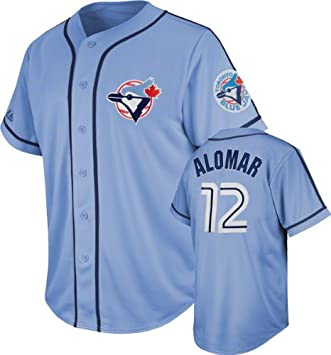 factory authentic b38b1 5afa6 Roberto Alomar Toronto Blue Jays Majestic Cooperstown Light ...