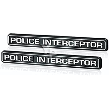 11-19 Explorer Police Interceptor Utility Lettering Hood Emblem Chrome