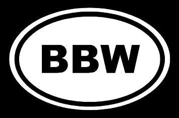 Vinyl Decal Sticker BBW Girl in Oval