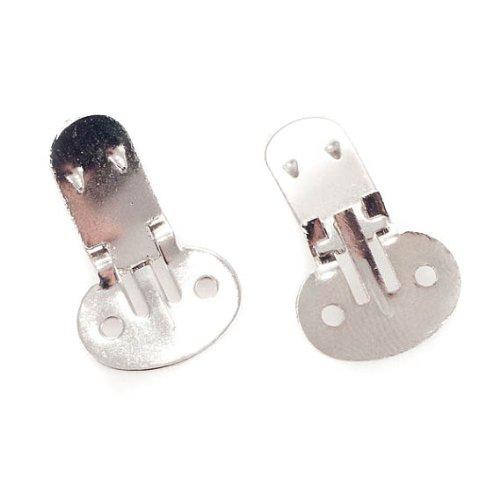 Nakpunar Large Blank Shoe Clips - 10 (5 pairs) - DIY Shoe ()